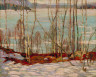 A.Y. Jackson / Frozen Lake, Early Spring, Algonquin Park / 1914