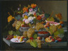 Severin Roesen / Still-life with Fruit and Flowers / c. 1855