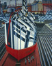 Edward Wadsworth / Dazzle-ships in Drydock at Liverpool / 1919