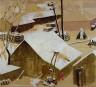 Edna Spurgeon / Lumber Yard in Snow / ca. 1934