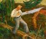 Ernest Ralph Norling / The Timber Bucker / ca. 1934