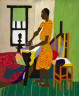 William H. Johnson / Woman Ironing / 1944