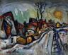 William H. Johnson / Sunset, Denmark / ca. 1935-1938