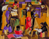 Jacob Lawrence / The Library / 1960