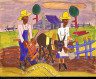 William H. Johnson / Sowing (III) / ca. 1940-1941