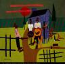 William H. Johnson / Folk Scene--Man with Banjo / ca. 1940-1944