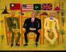 William H. Johnson / Three Allies in Cairo / ca. 1945