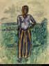William H. Johnson / African Woman--Study in Tunis / 1932