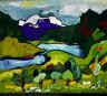 William H. Johnson / Mountain Stream / ca. 1935-1938