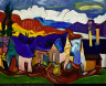 William H. Johnson / Chalet in the Mountains / ca. 1938