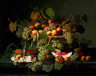 Severin Roesen / Still Life with Fruit / 1852