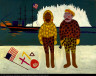 William H. Johnson / Commodore Peary and Henson at the North Pole / ca. 1945