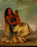 George Catlin / Wah-chee-te, wife of Clermont, and child / 1834