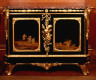 Bernard Vanrisamburgh II / One of a Pair of Cabinets with Panels of Black-and-Gold Japanese Lacquer / c. 1764