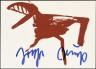 Joseph Beuys / I aus Zeichen aus dem Braunraum (I from Signs from the Brown Chamber) / 1984
