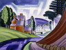 Oscar Bluemner / Space Motive, a New Jersey Valley / ca. 1917-1918