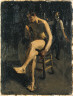 Hopper, Edward / (Seated Male Nude with Painter in Background) / (1903)-(1906)