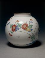 Jar with Floral Designs: Kakiemon Ware