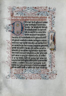 [Leaf from a Book of Hours: Angel with a Banderole, Angel with a Banderole: Leaf from a Book of Hours]