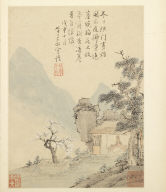 Album of Seasonal Landscapes: Late Winter and the Blossoming Plum (No. 8)