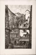 Twenty Lithographs of Old Paris: L'Épicerie, Rue Galande, Paris