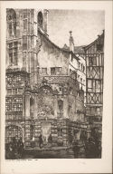 Twenty Lithographs of Old Paris: Fontaine de la Grosse Horloge, Rouen