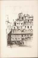 Twenty Lithographs of Old Paris: Rue de l'Abbaye, Paris