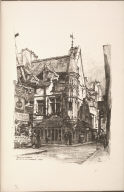 Twenty Lithographs of Old Paris: Maison de la Tourelle, Rue des Frances Bourgeois, Paris