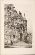 Twenty Lithographs of Old Paris: Un Portail de l'Église de Saint Étienne du Mont, Paris