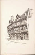 Twenty Lithographs of Old Paris: La Maison du Saumon, Chartres