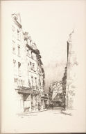 Twenty Lithographs of Old Paris: Rue de la Montagne Sainte Geneviève, Paris