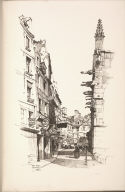 Twenty Lithographs of Old Paris: Rue Saint Séverin, Paris