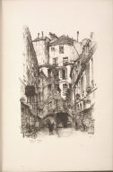 Twenty Lithographs of Old Paris: Cour du Dragon, Paris