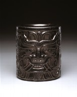 Cylindrical vessel with frontal faces and profile figures