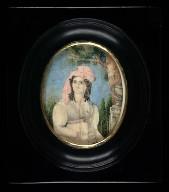 Dama desconocida con turbante rosa