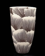 Vase in Brown and White