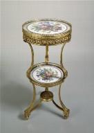 Gilt-Bronze Tripod Table with Sèvres Porcelain Plaques