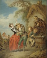 [The Village Orchestra, f???ªte galante oil painting]