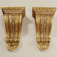 PAIR OF BRACKETS made for Tottenham Park, Wiltshire