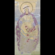 EMBROIDERED PICTURE of St Elizabeth