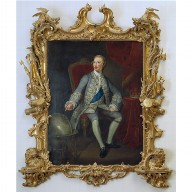 GEORGE III WHEN PRINCE OF WALES in a Rococo frame