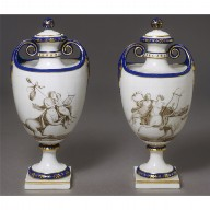 PORCELAIN VASE (one of a pair)