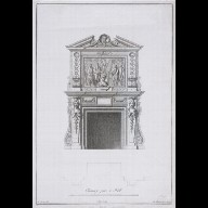ENGRAVING of a chimney-piece at Houghton Hall, Norfolk