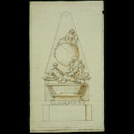 DESIGN for the memorial to Sir Isaac Newton