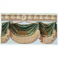 WALLPAPER FRIEZE with draped swags