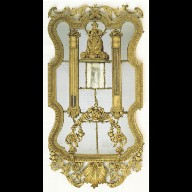 MIRROR with thermometer and barometer
