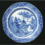 PLATE with Two Temples pattern