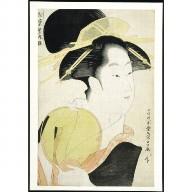 WOODBLOCK PRINT: The Courtesan Yosooi of the Matsubaya house
