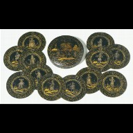 SET OF ROUNDELS in a box