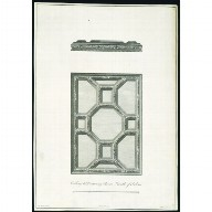 ENGRAVING of a ceiling at Houghton Hall, Norfolk